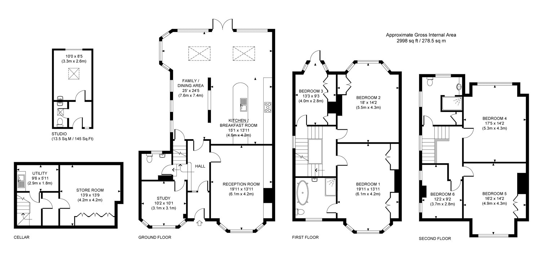 6 bedroom property for sale in temple gardens brighton bn1 floorplan