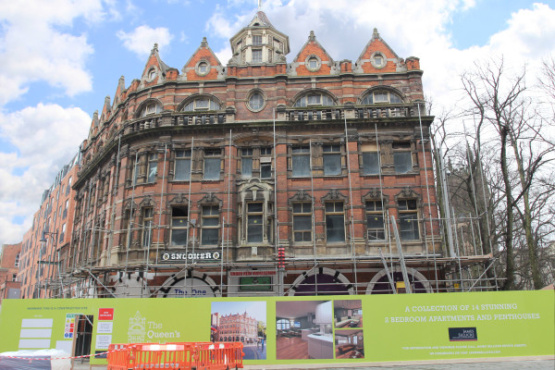 Work begins to develop the historic Queens Building!