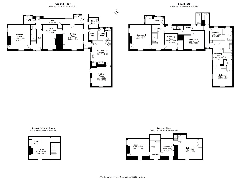 7 bedroom property for sale in Bridge Street Manton Marlborough – Marlborough House Floor Plan