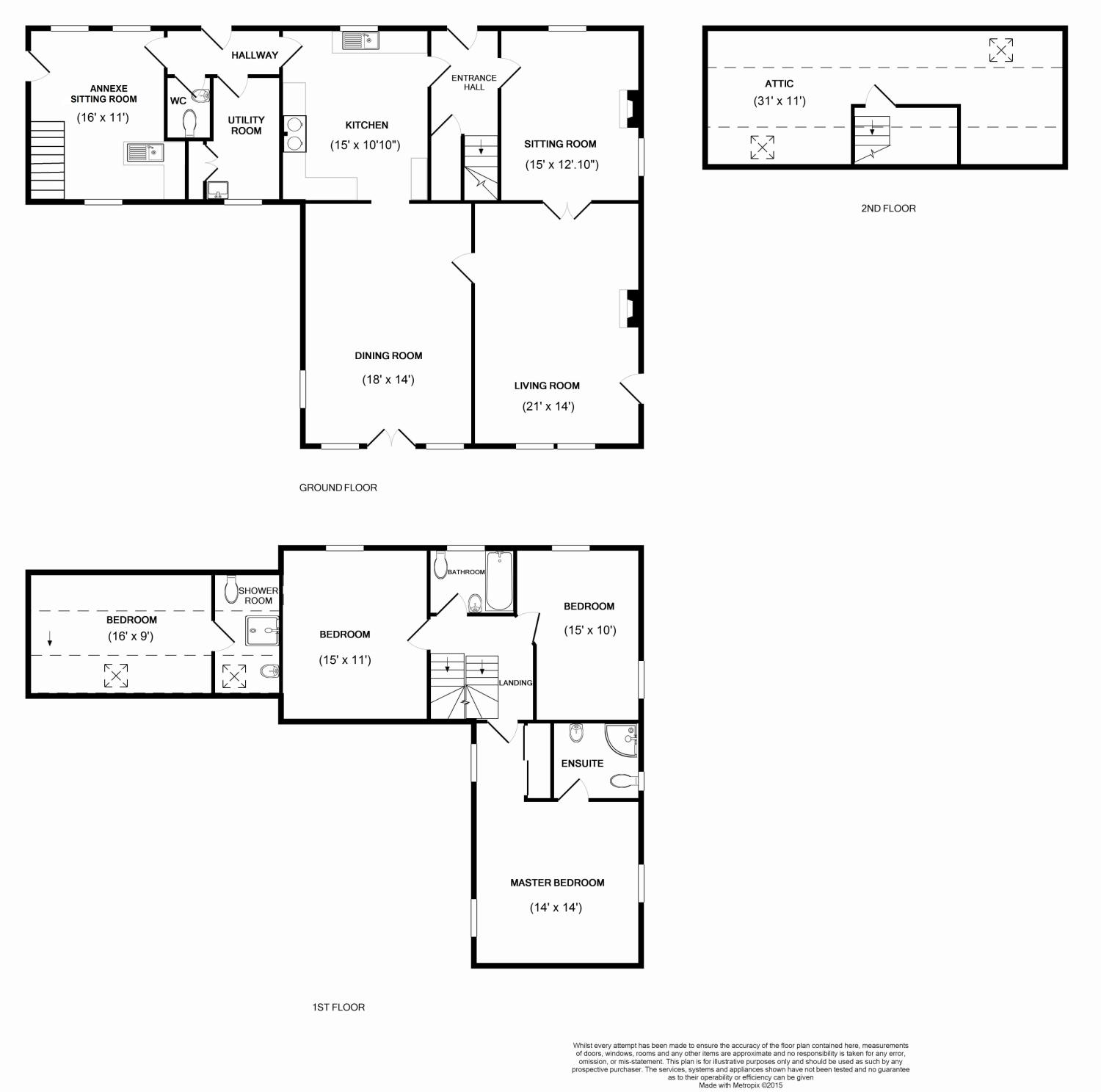 Floorplans for Townhead, Ancrum, Jedburgh, TD8