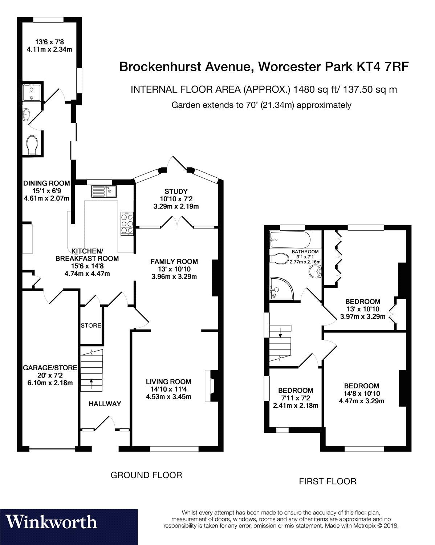 4 bedroom property for sale in Brockenhurst Avenue, Worcester Park
