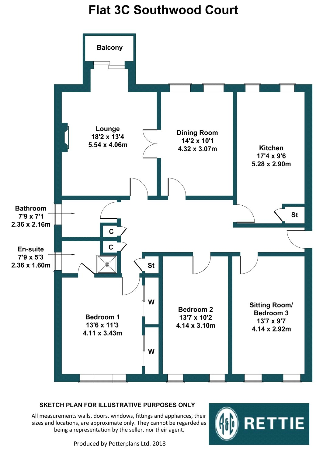 Floorplans for Rosemount Avenue, Newton Mearns, Glasgow, G77