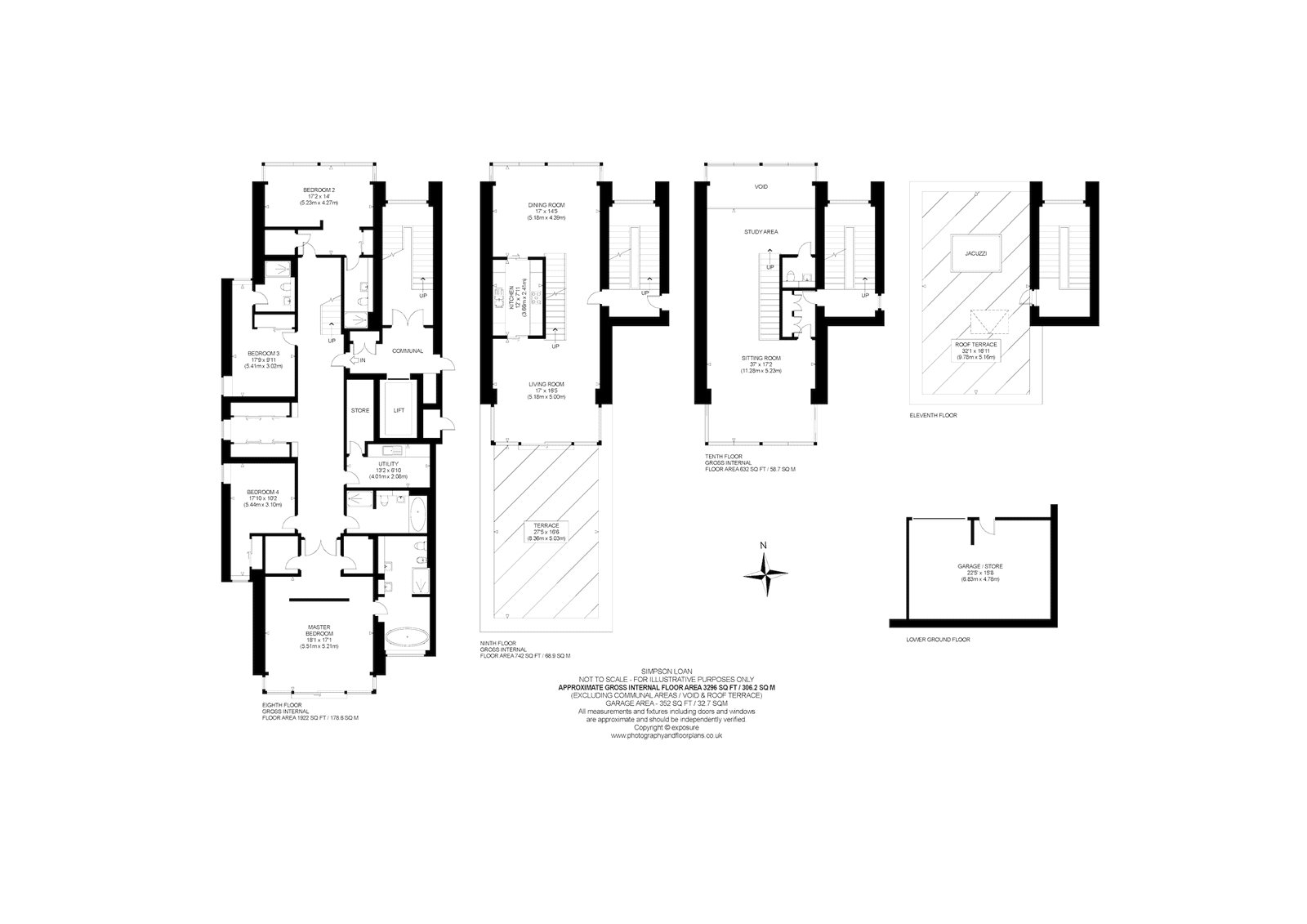 Floorplans for Simpson Loan, Edinburgh, Midlothian, EH3