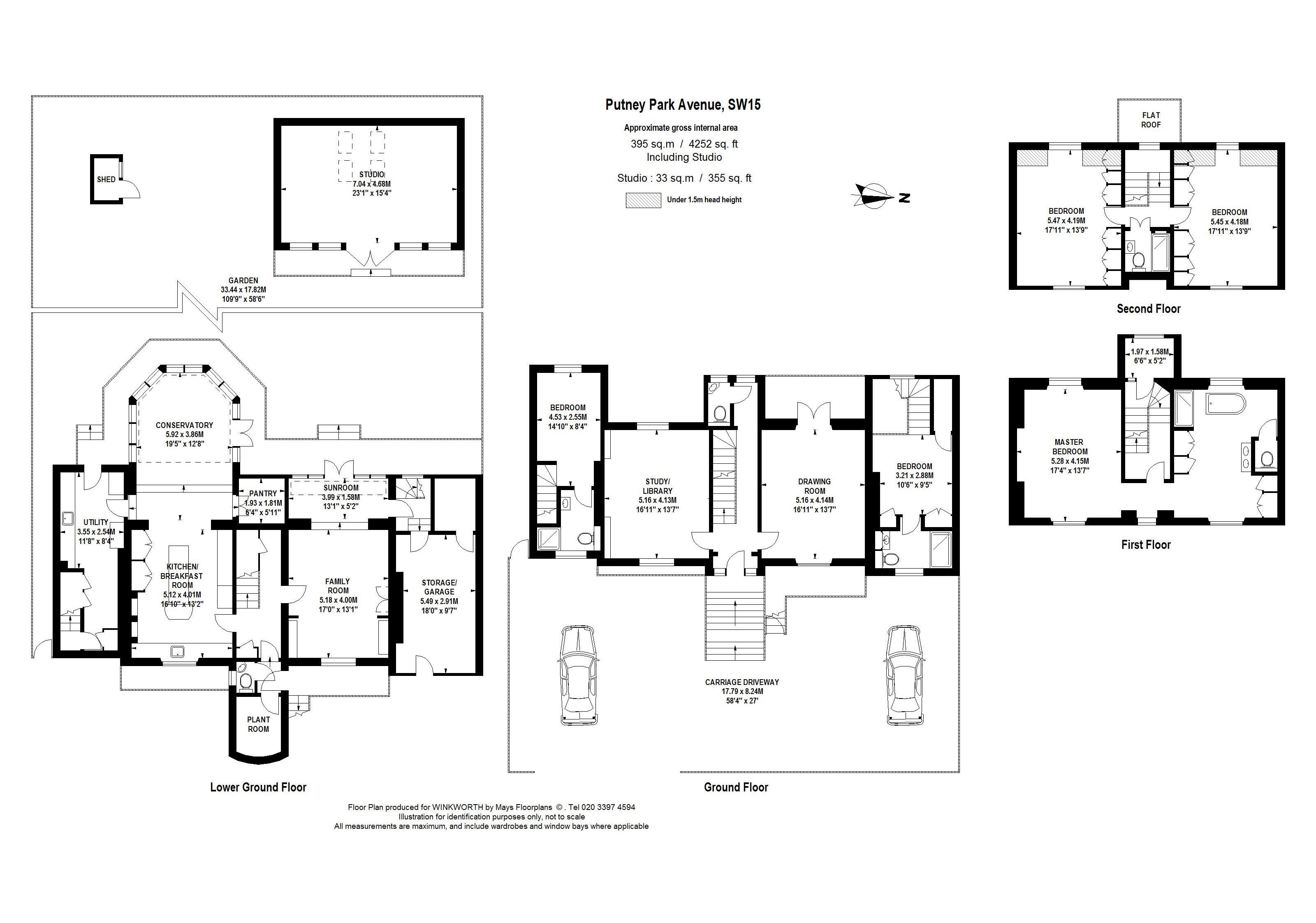 5 bedroom property for sale in Putney Park Avenue, London, SW15