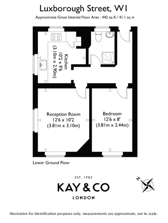 Floorplan for Luxborough Street, Marylebone, London, W1U