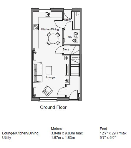 Floorplans for The Alder, Ashgrove, Straiton, Loanhead, EH20