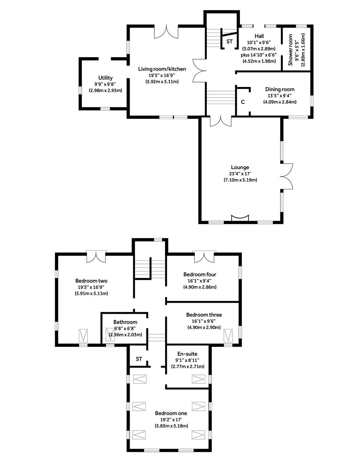 Floorplans for Dunmore Street, Balfron, G63