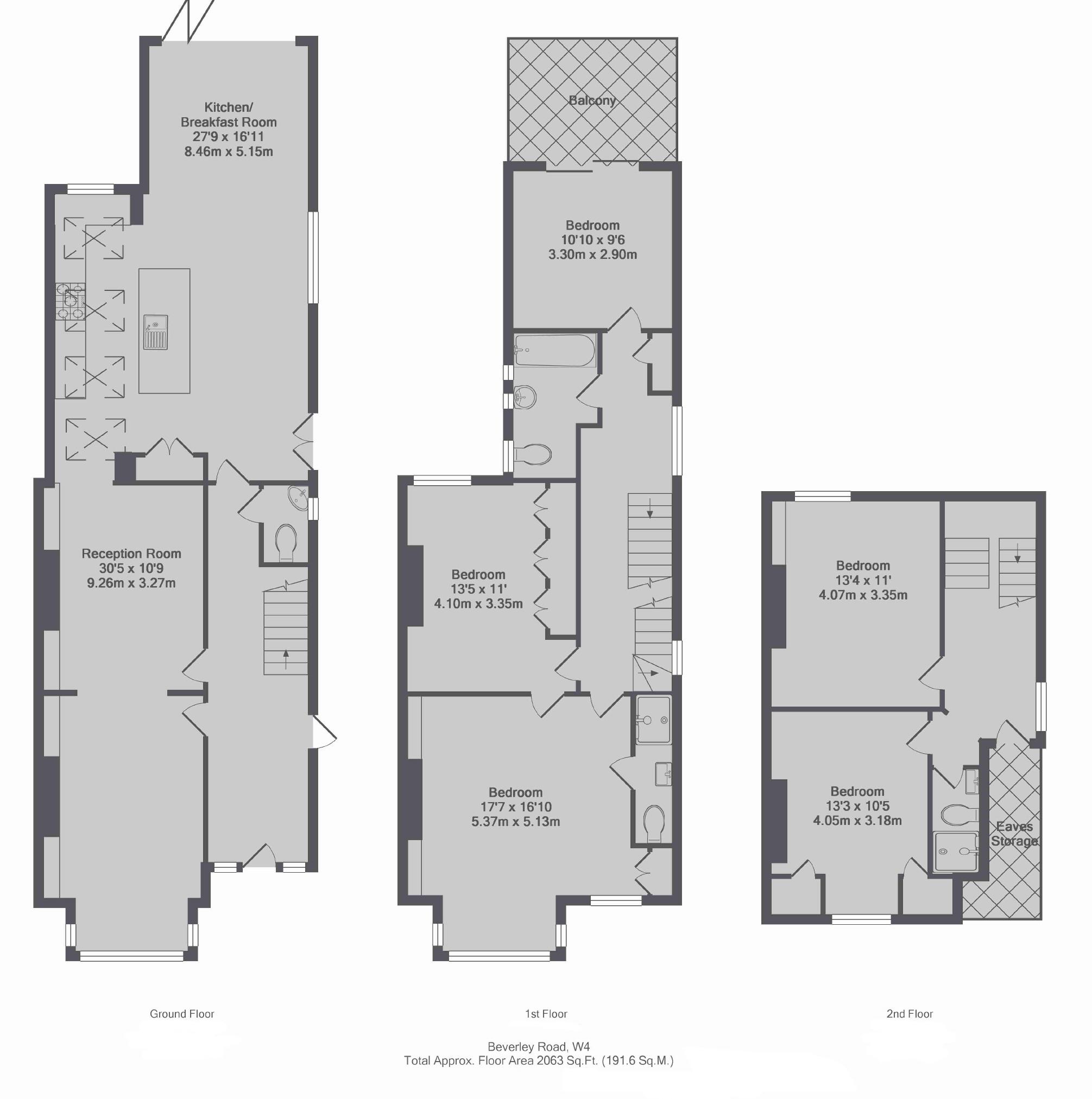 Fletchers | 5 bedroom property to let in Beverley Road, London