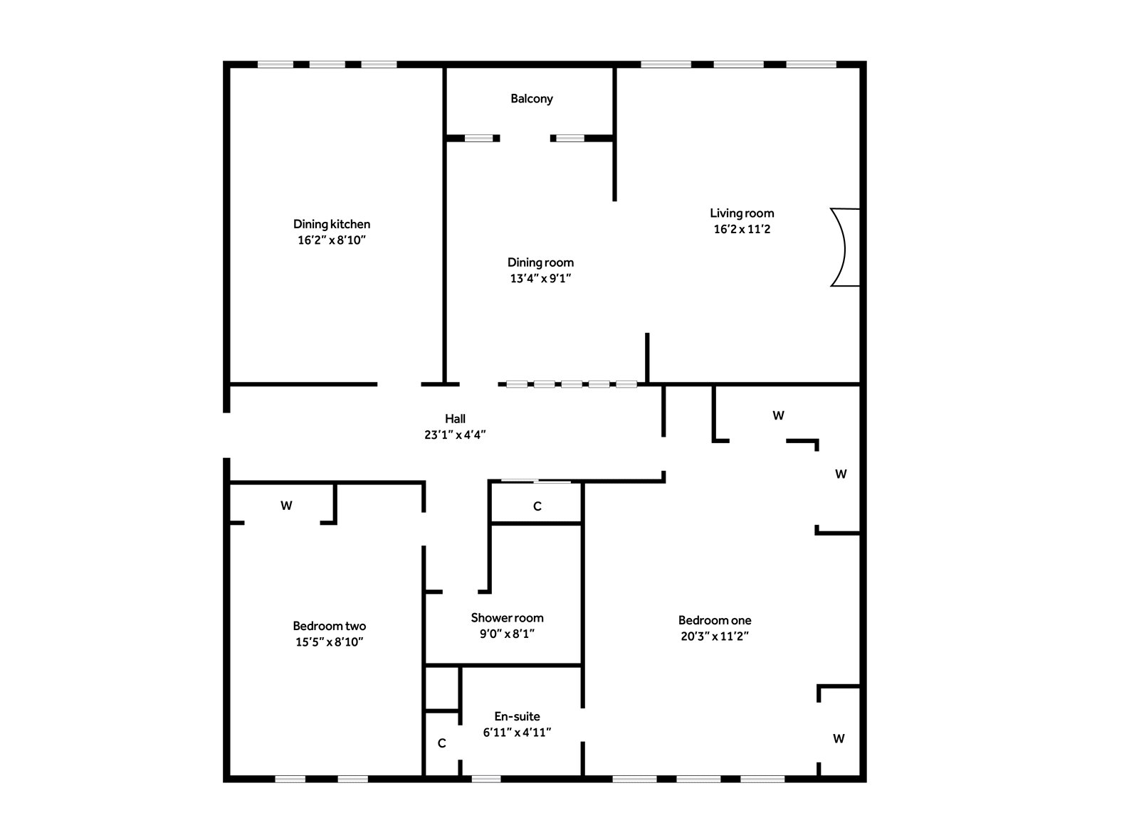 Floorplans for Roman Court, Bearsden, G61