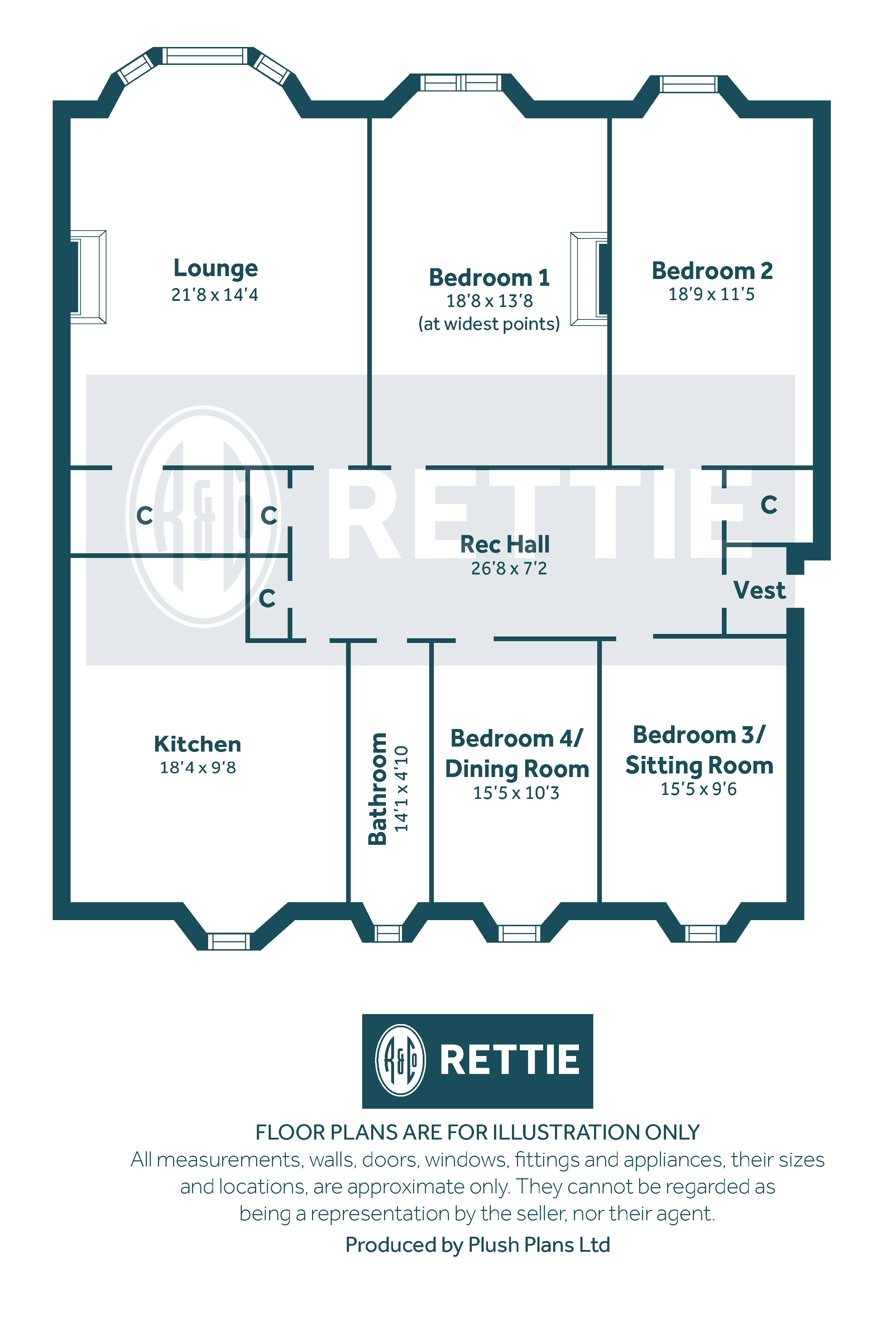 Floorplans for Terregles Avenue, Pollokshields, G41