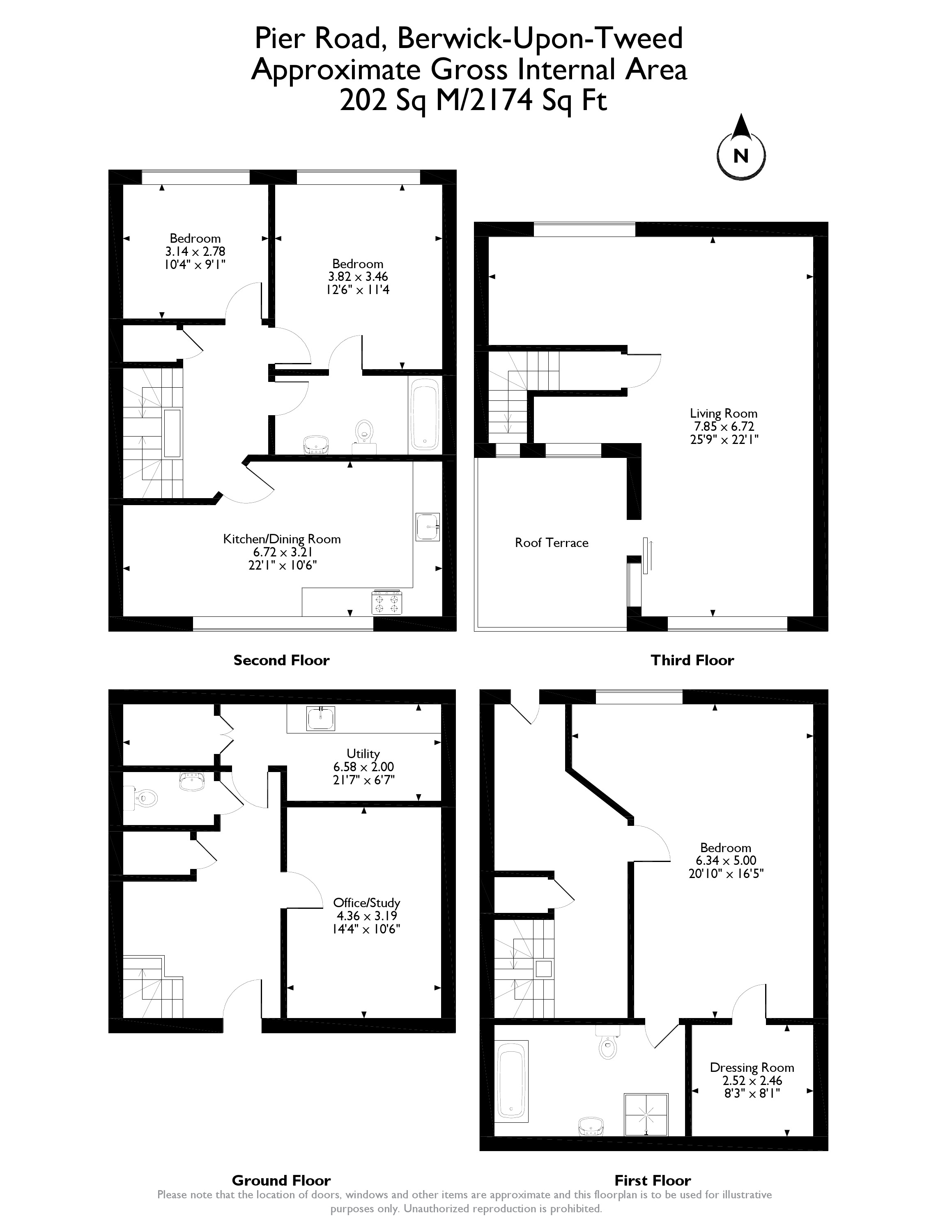 Floorplans for Pier Road, Berwick-Upon-Tweed, TD15