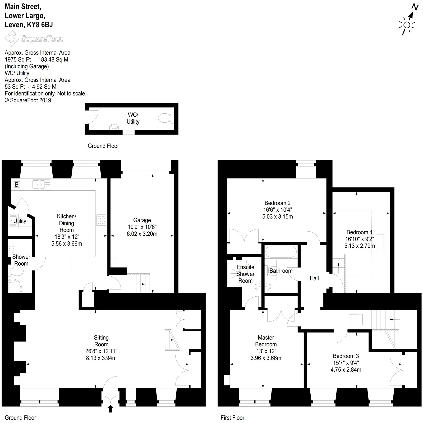 Floorplans for Main Street, Lower Largo, Leven, KY8
