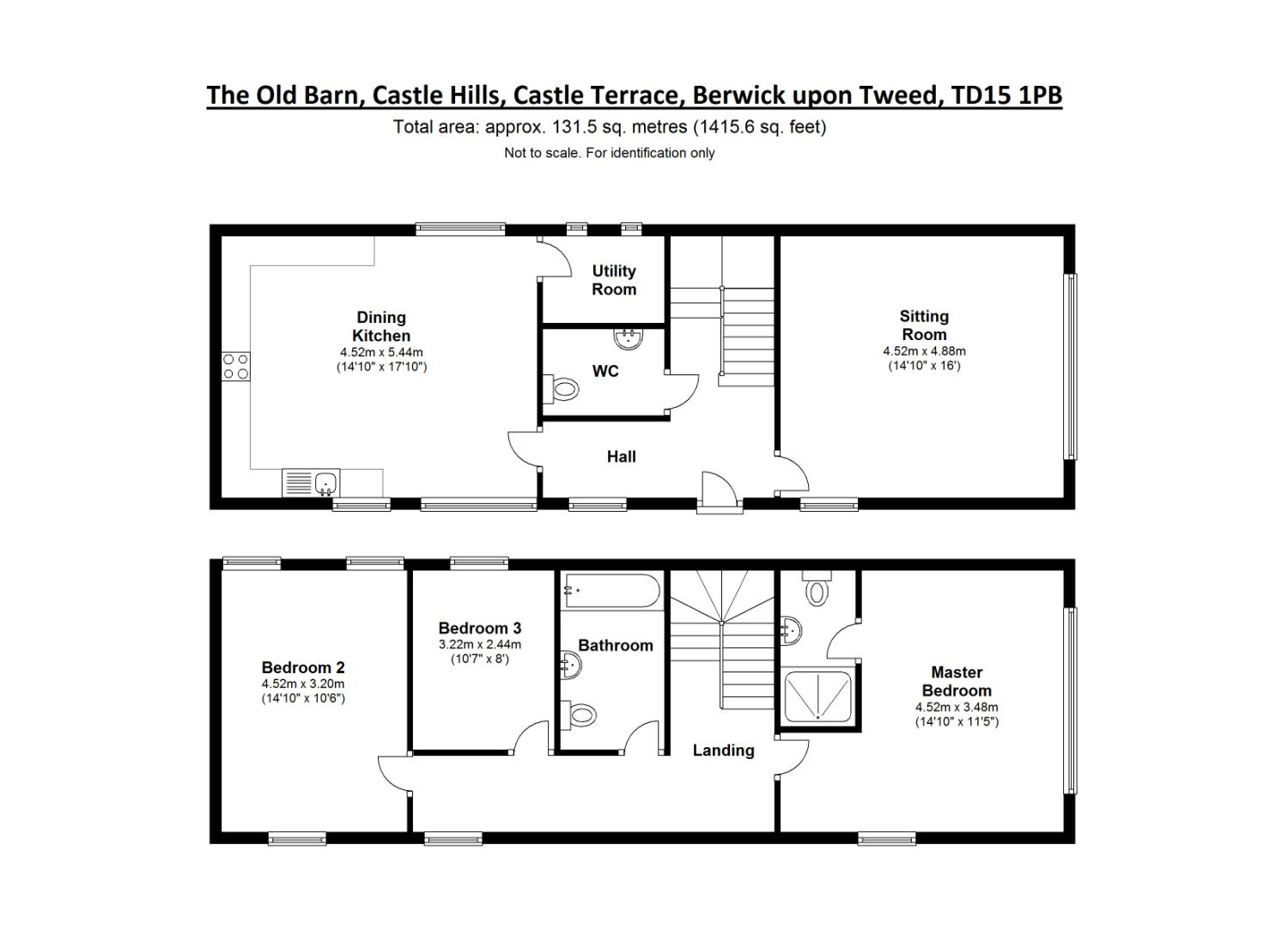 Floorplans for Castle Hills, Berwick-upon-Tweed, Northumberland, TD15
