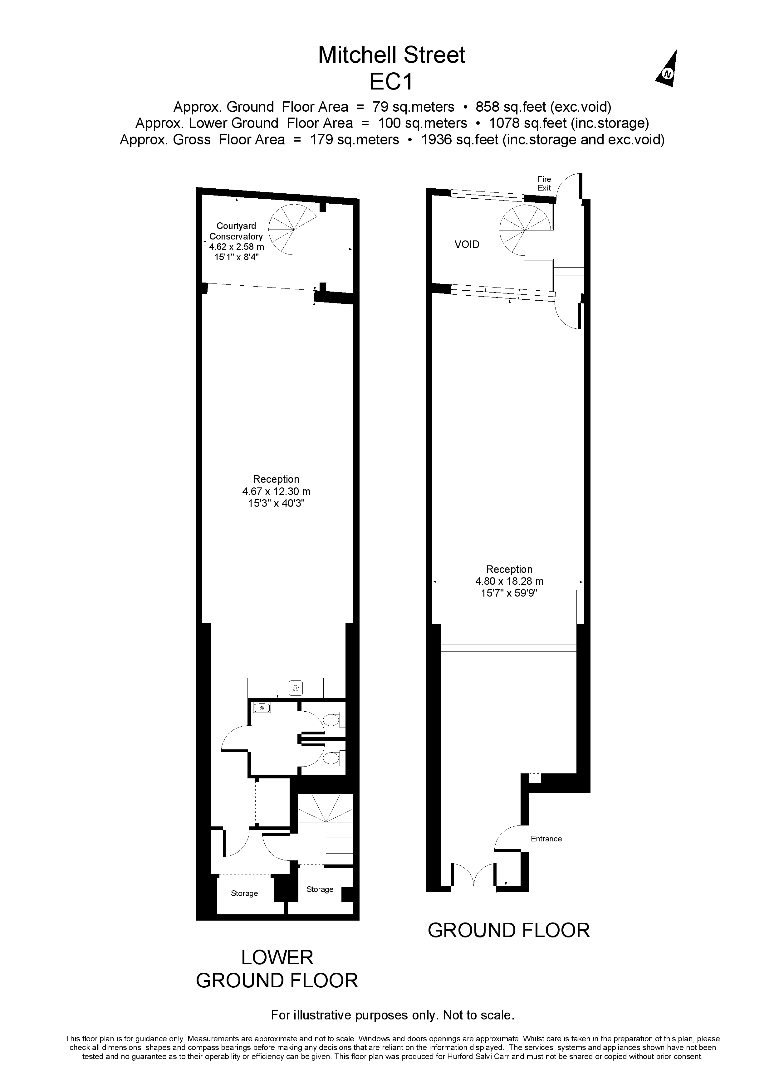Mitchell Street, Clerkenwell, London, EC1V floorplan