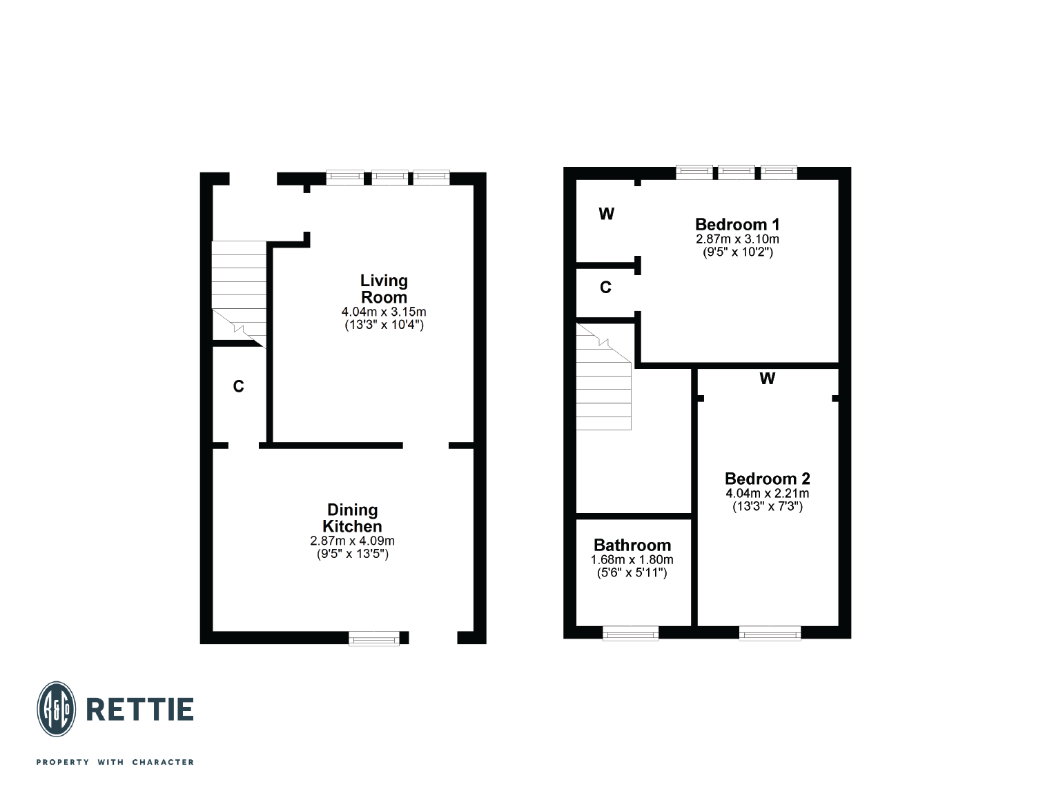 Floorplans for Kirkmichael Avenue, Broomhill, Glasgow, G11