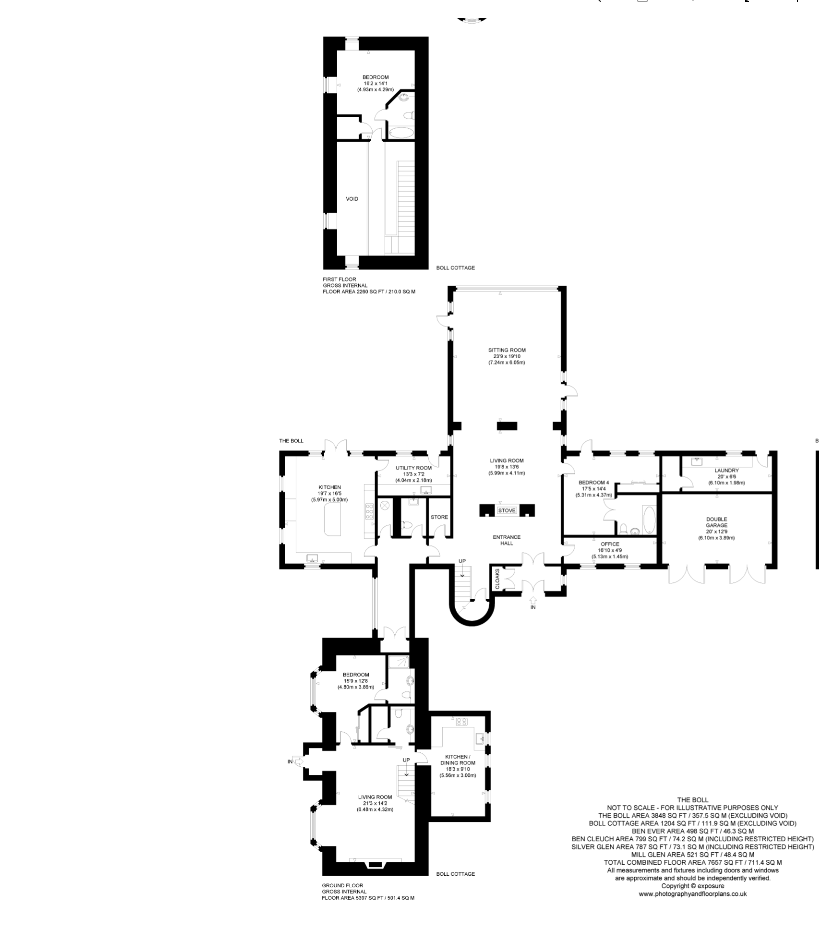 Floorplans for Boll Farm and Holiday Cottages, Brook Street, Alva, FK12