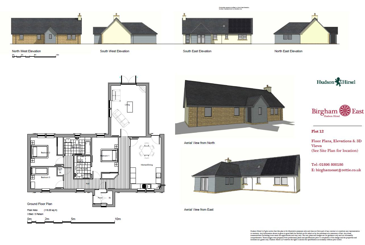 Floorplans for Plot 12, Birgham East, Coldstream, TD12