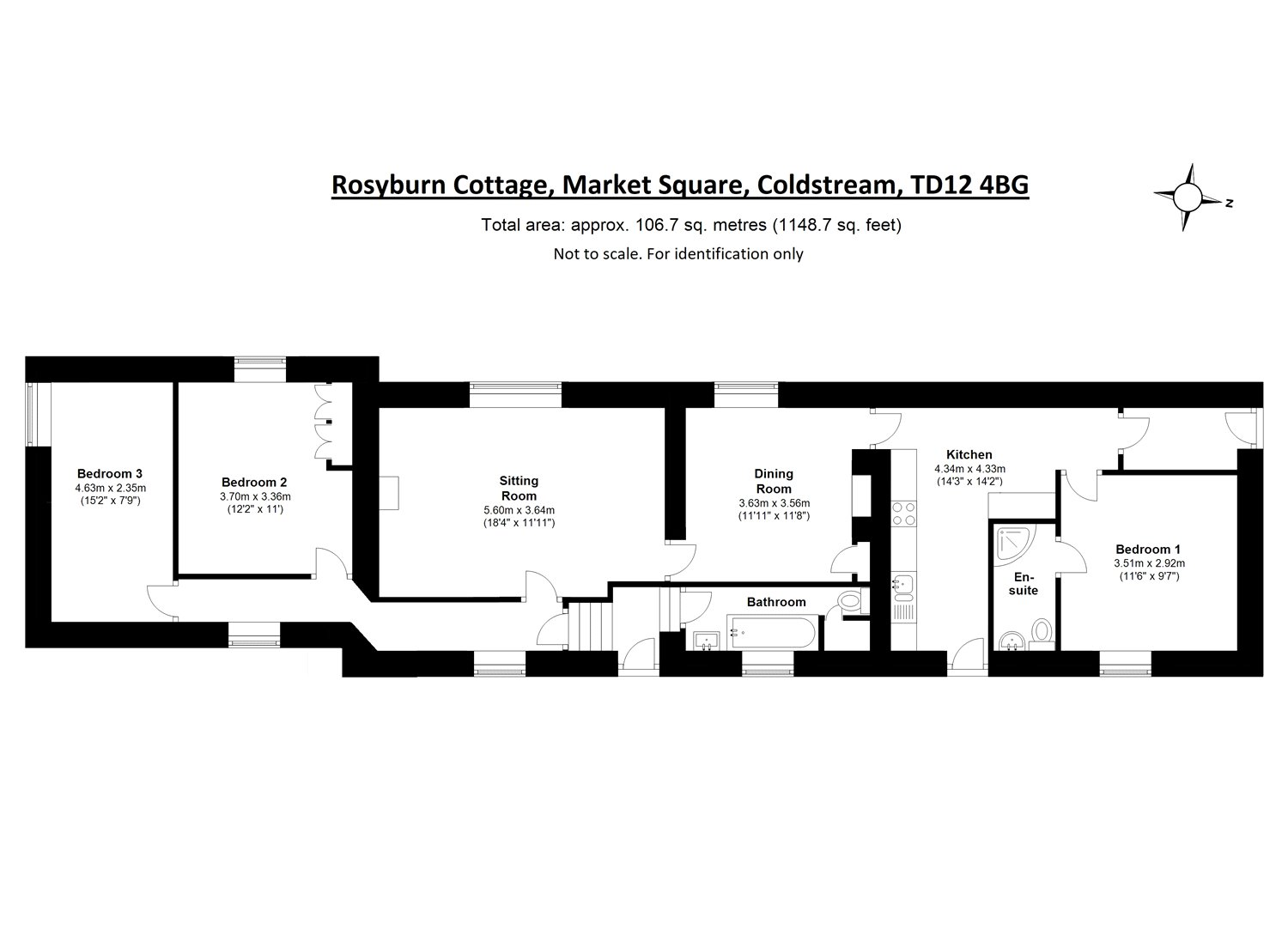 Floorplans for Market Square, Coldstream, Berwickshire, TD12