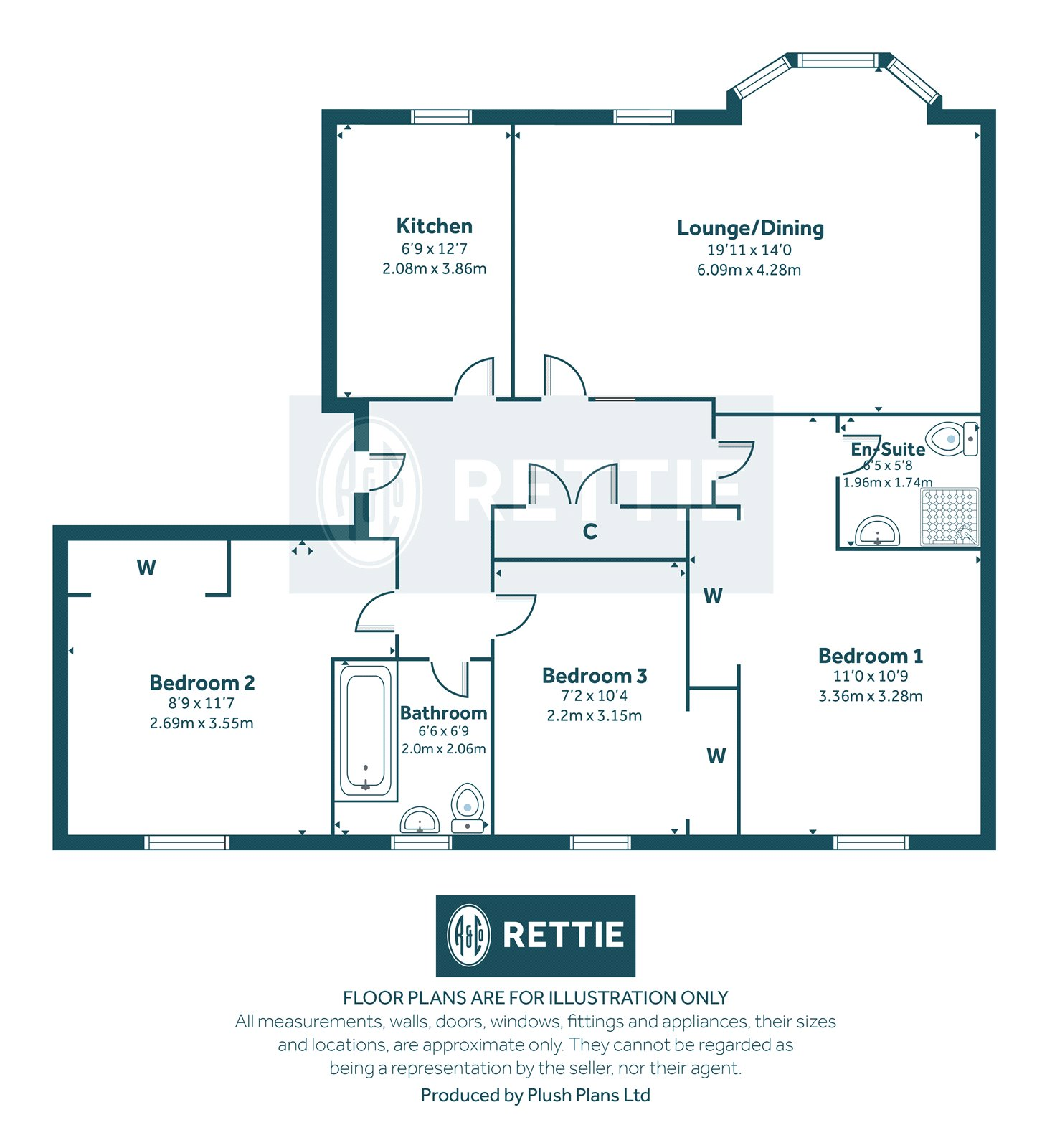 Floorplans for Skaterigg Gardens, Jordanhill, Glasgow, G13