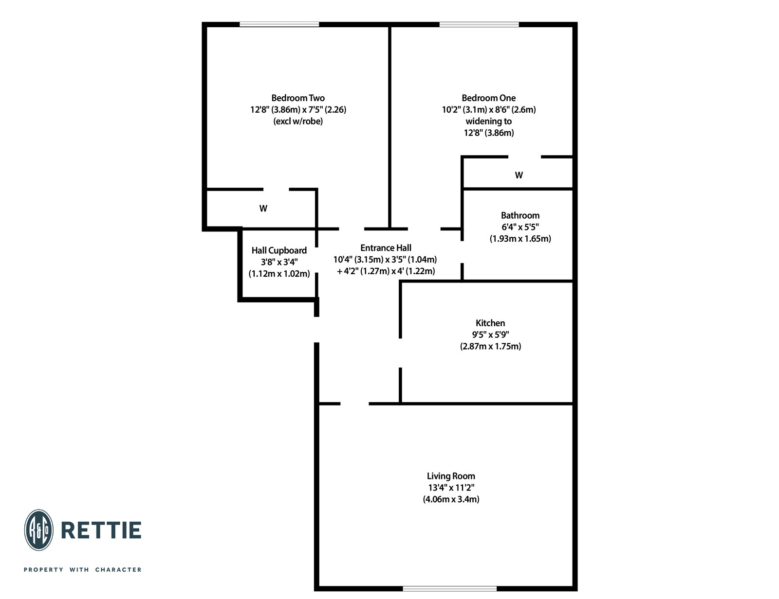 Floorplans for Tullis Street, Bridgeton, Glasgow, G40
