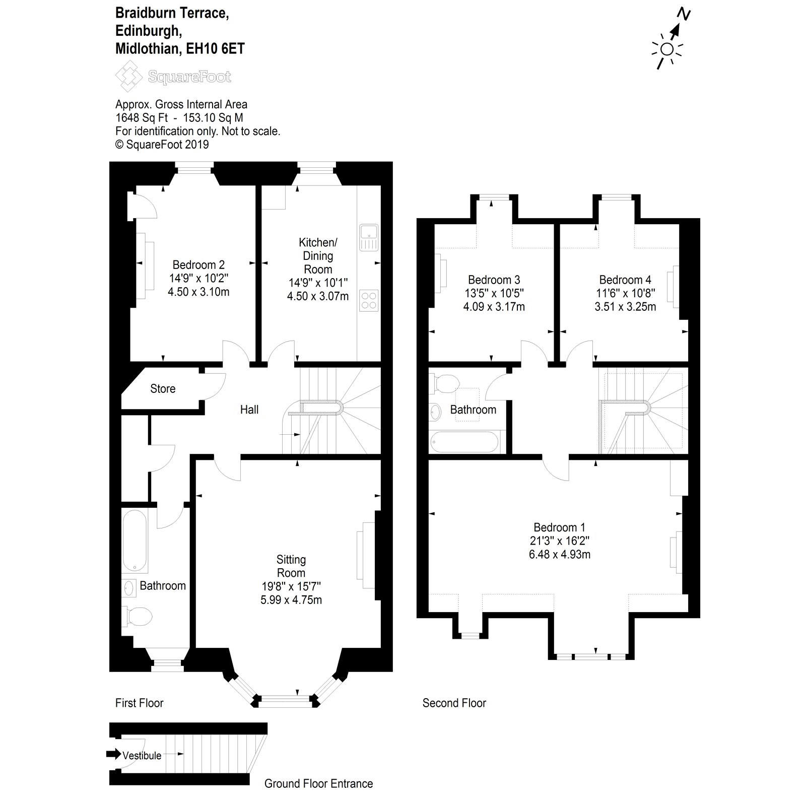 Floorplans for Braidburn Terrace, Edinburgh, EH10