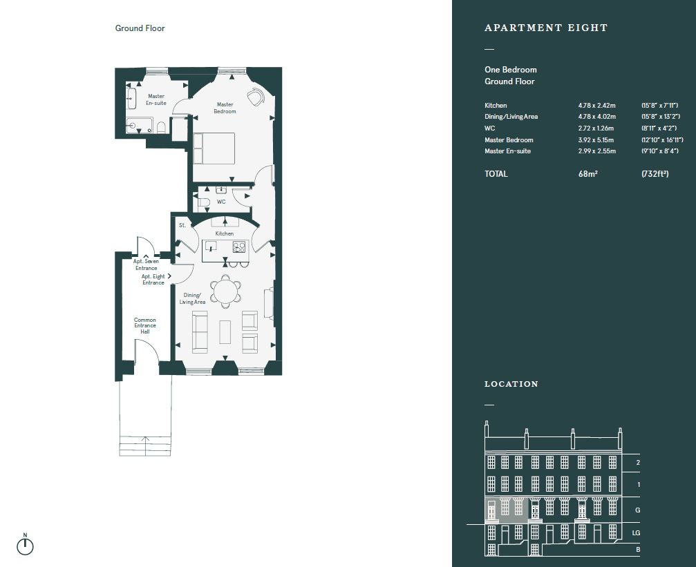 Floorplans for 36/1 Great King Street, Edinburgh, Midlothian, EH3