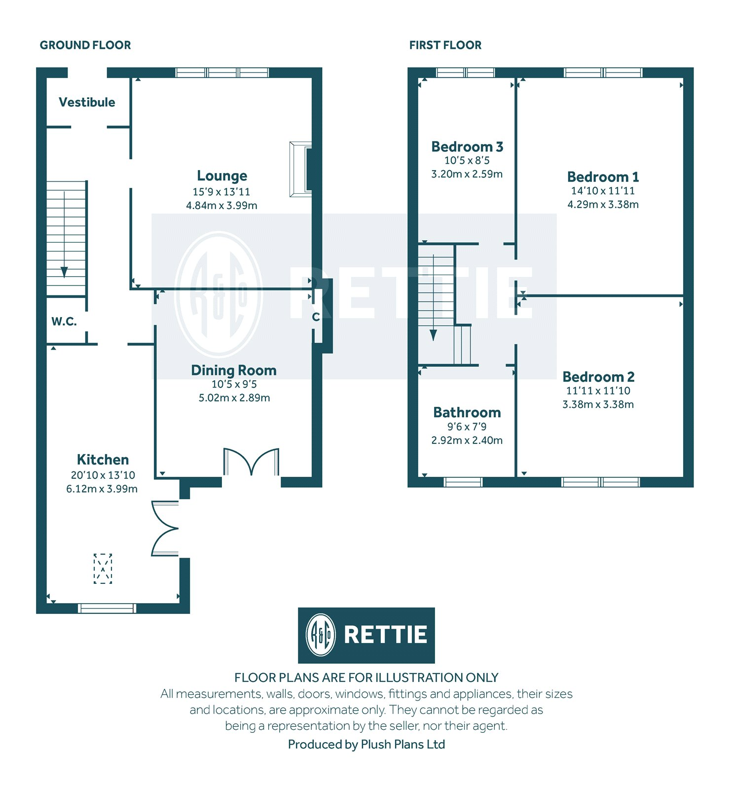 Floorplans for Wilmot Road, Jordanhill, Glasgow, G13