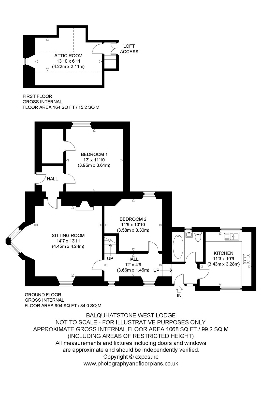 Floorplans for Balquhatstone House, Slamannan, Falkirk, FK1