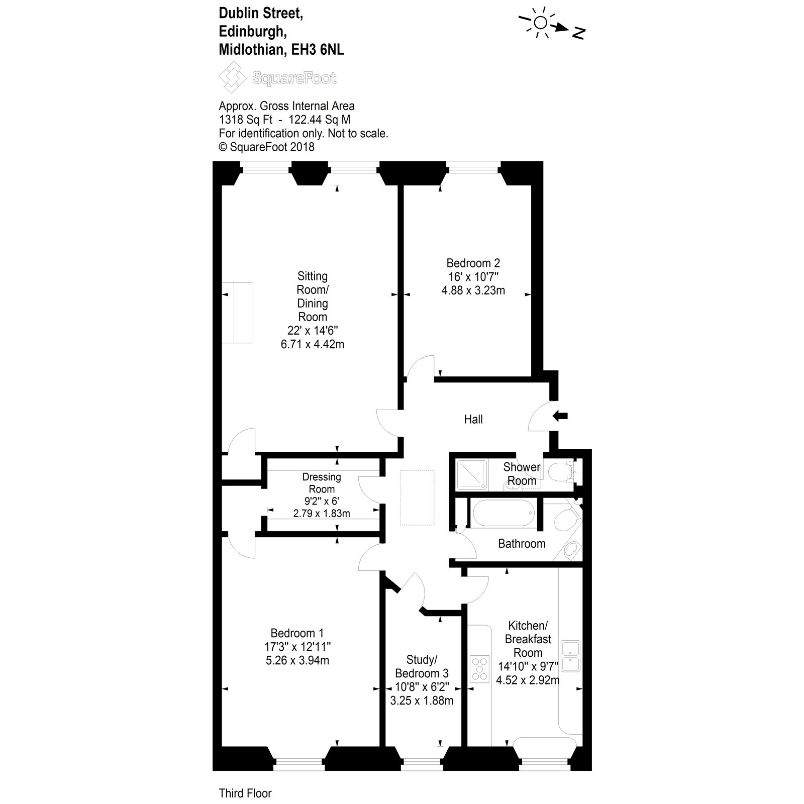 Floorplans for Dublin Street, Edinburgh, EH3