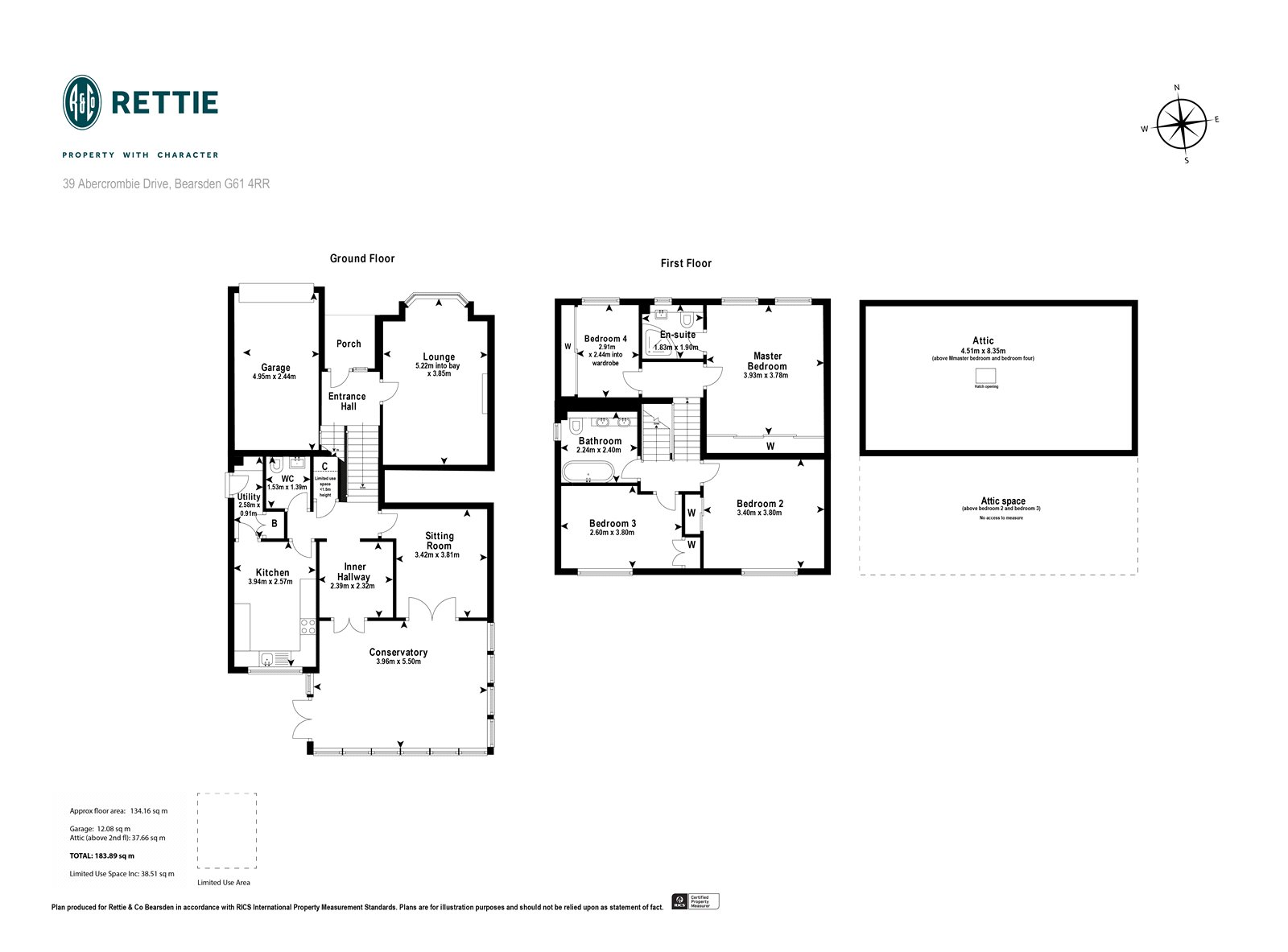 Floorplans for Abercrombie Drive, Bearsden, G61