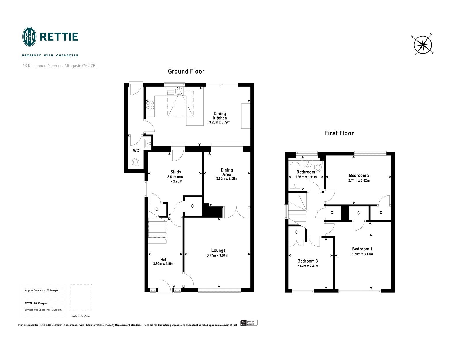 Floorplans for Kilmannan Gardens, Milngavie, G62