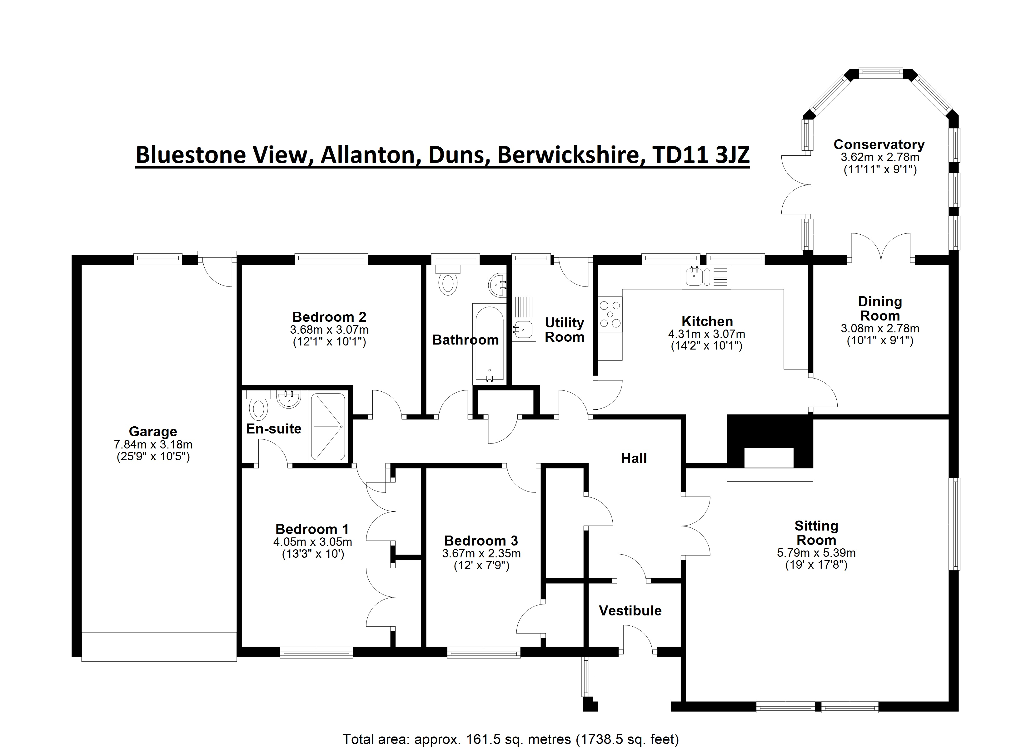 Floorplans for Bluestone View, Allanton, Duns, TD11
