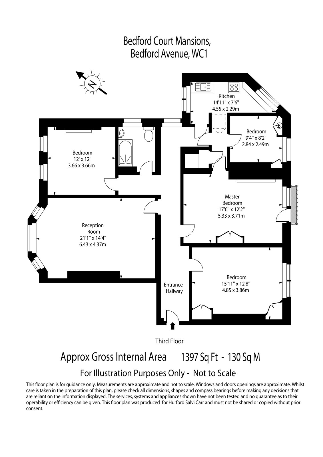Bedford Court Mansions, Bedford Avenue, London, WC1B floorplan