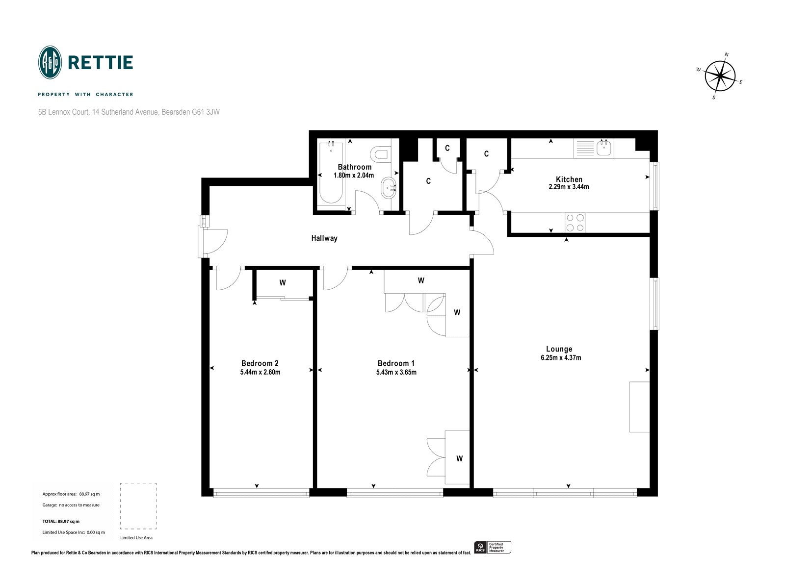 Floorplans for Lennox Court, 14 Sutherland Avenue, Bearsden, G61