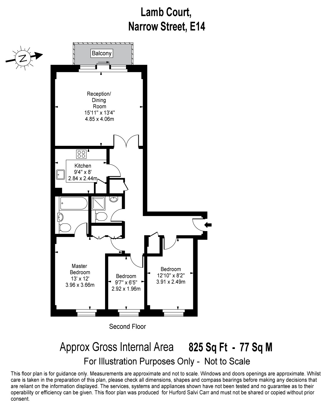 Lamb Court, 69 Narrow Street, E14 floorplan