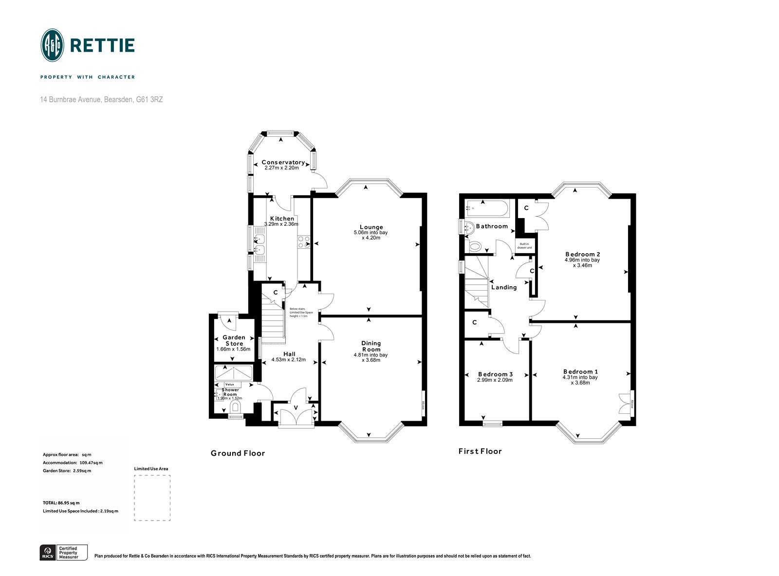 Floorplans for Burnbrae Avenue, Bearsden, Glasgow, G61