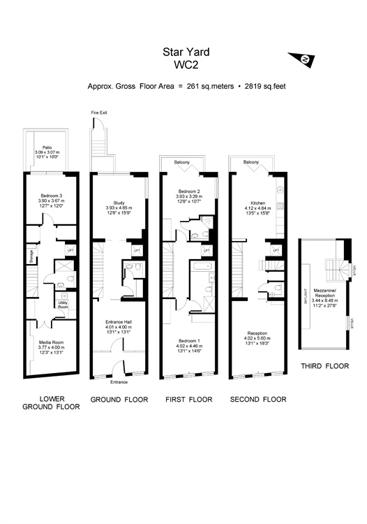 Star Yard, Holborn, London, WC2A floorplan