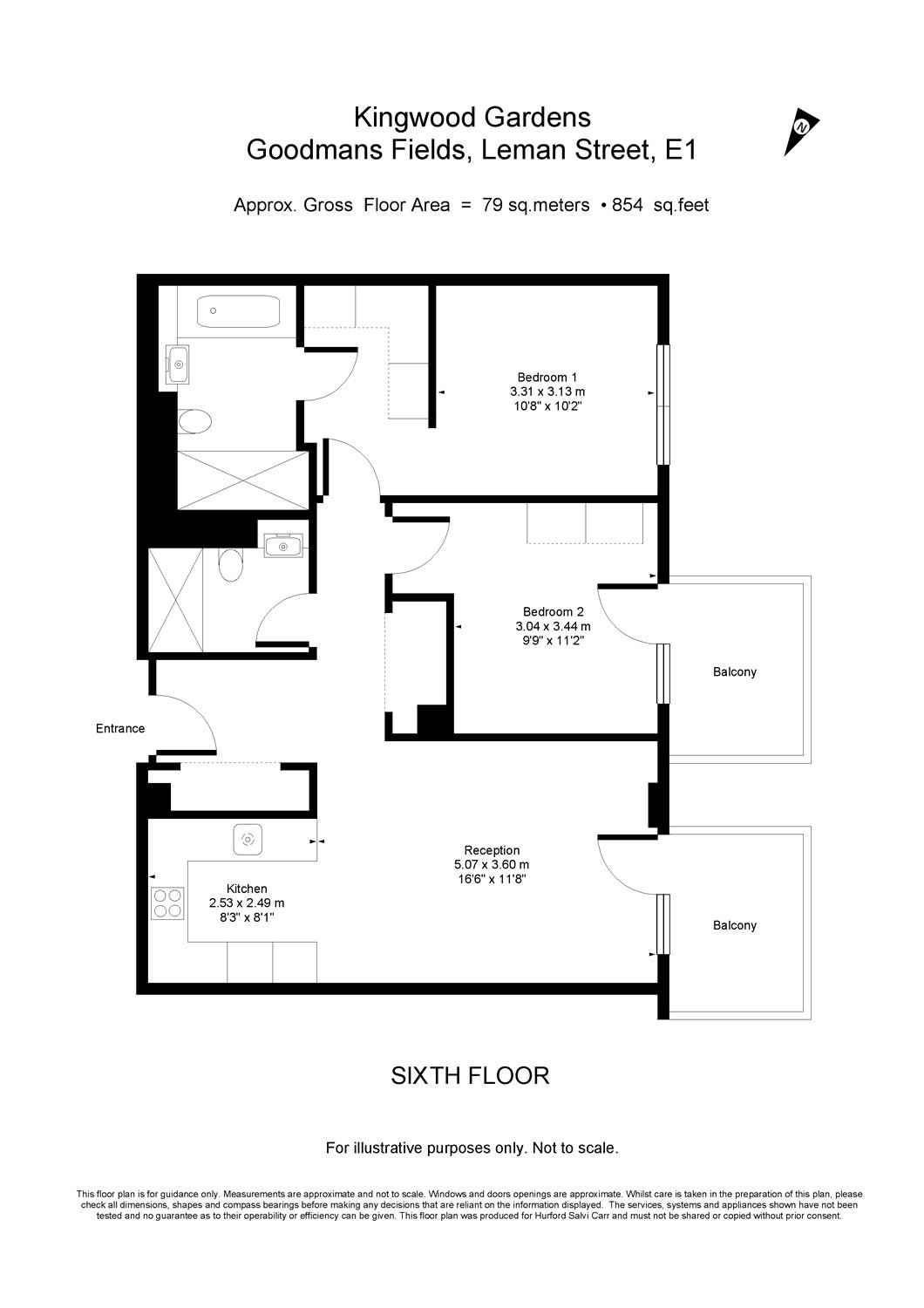 Goodman's Fields, 1 Chaucer Gardens, London, E1 floorplan