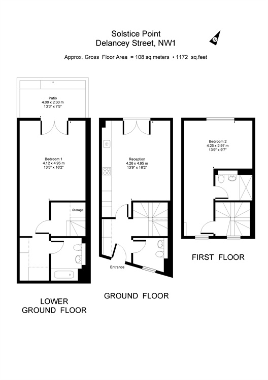 Delancey Street, Camden, London, NW1 floorplan