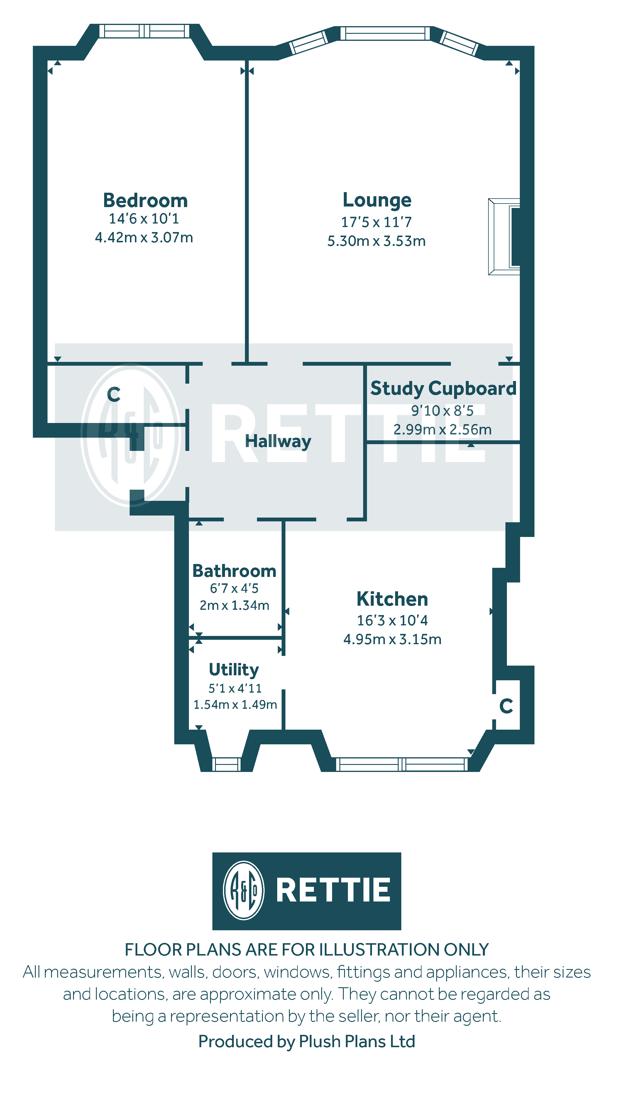 Floorplans for Clarkston Road, Cathcart, Glasgow, G44