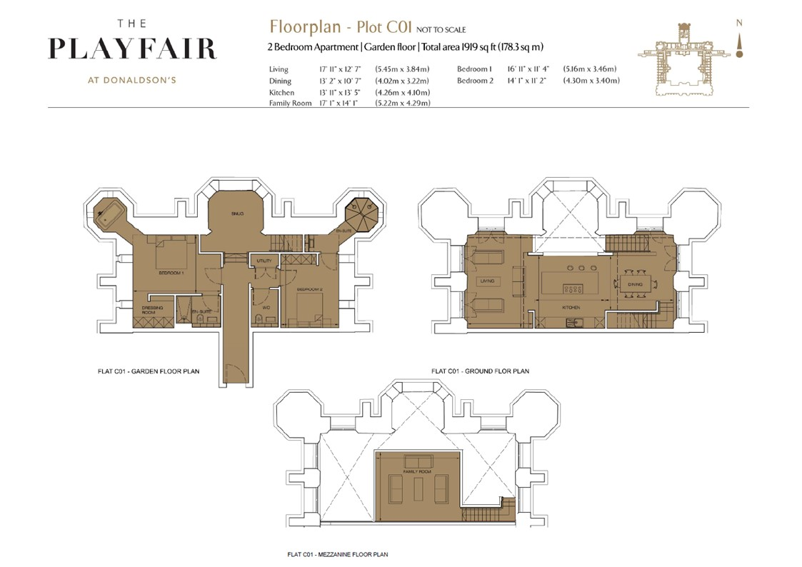 Floorplans for C01 - Donaldson's, West Coates, Edinburgh, EH12