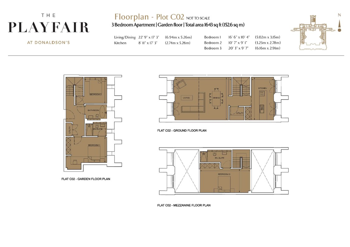 Floorplans for C02 - Donaldson's, West Coates, Edinburgh, EH12