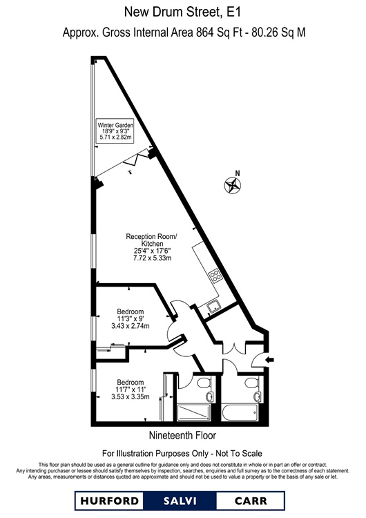 Wiverton Tower, 4 New Drum Street, E1 floorplan