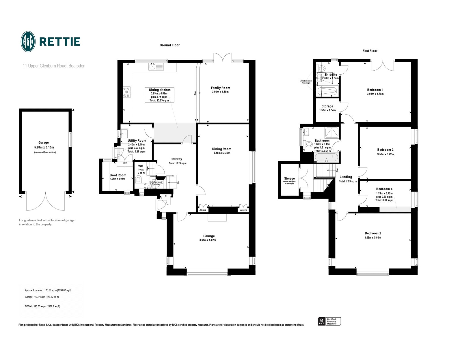 Floorplans for Upper Glenburn Road, Bearsden, Glasgow, G61
