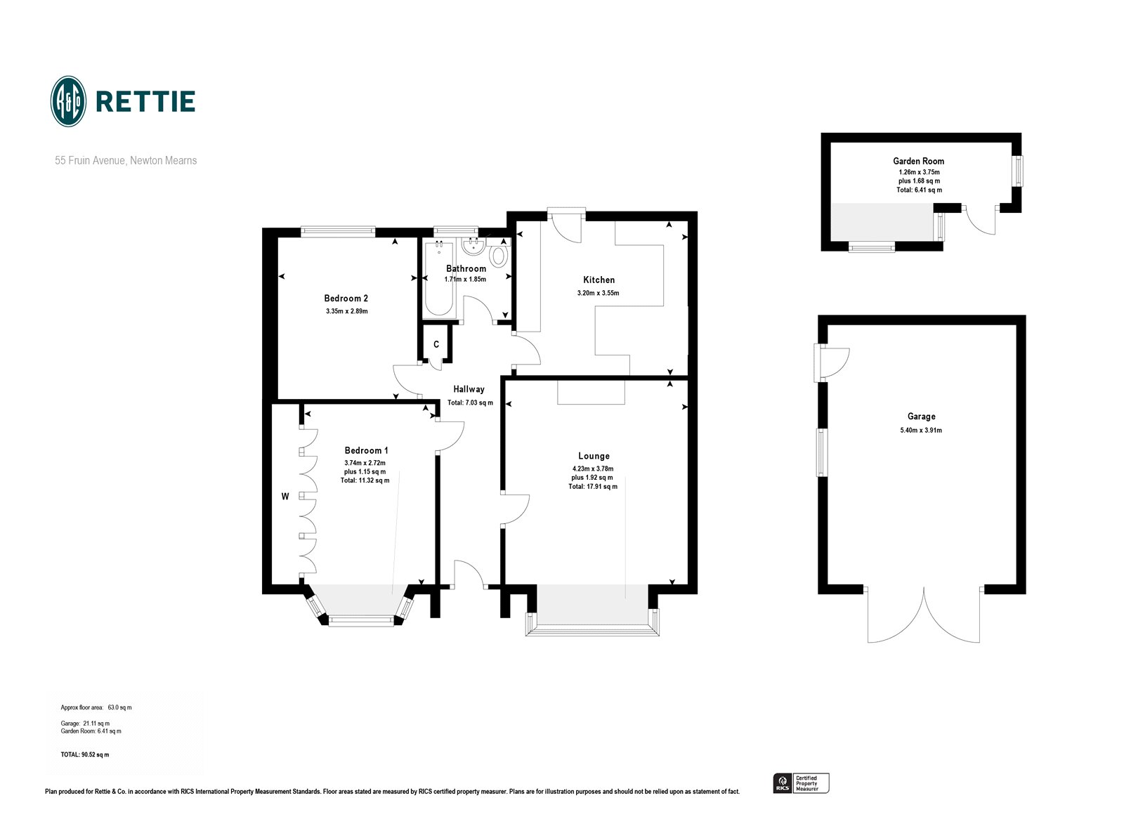 Floorplans for Fruin Avenue, Newton Mearns, Glasgow, G77