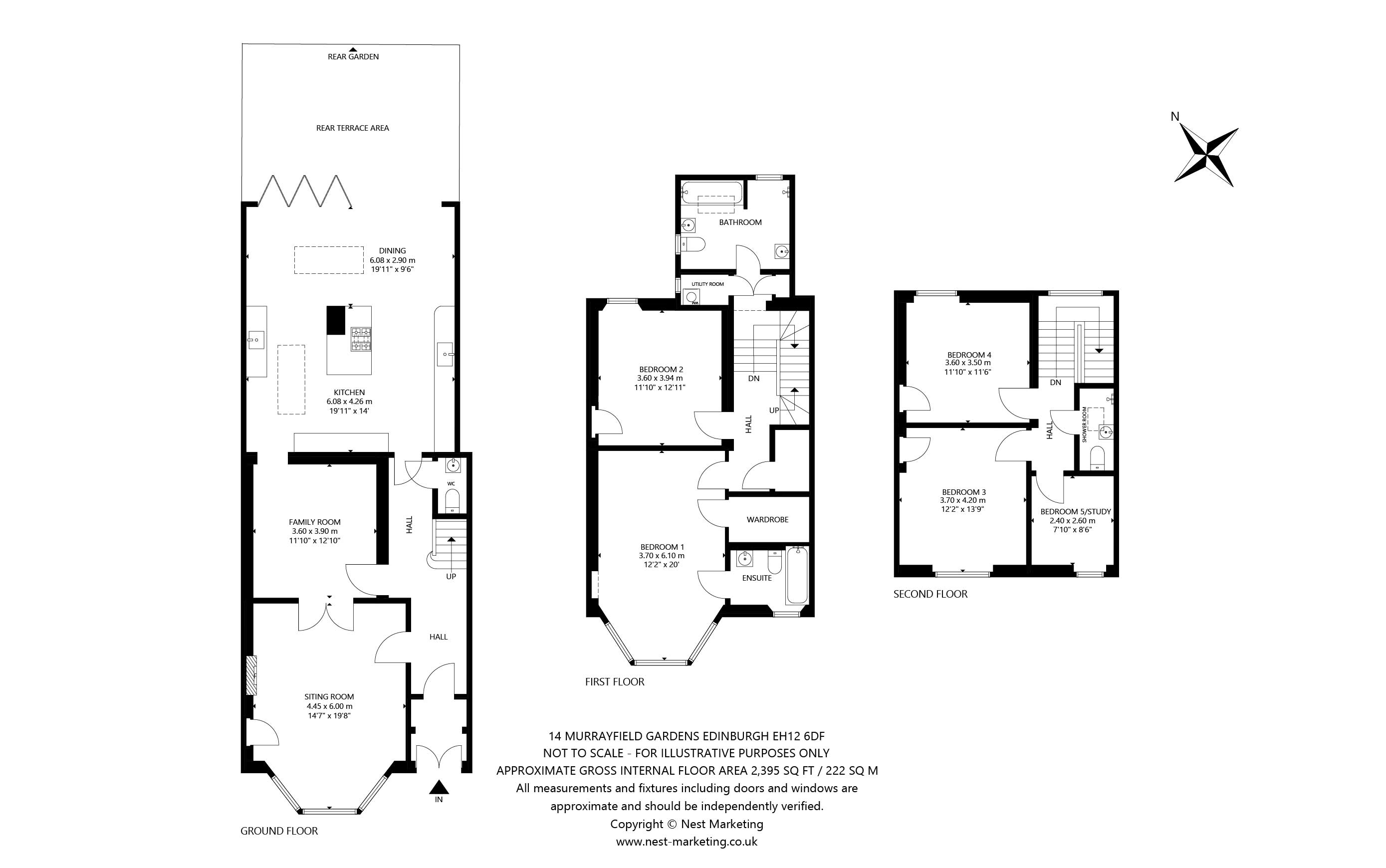 Floorplans for Murrayfield Gardens, Edinburgh, EH12