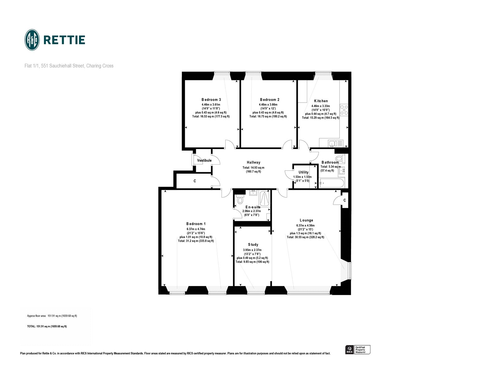 Floorplans for Sauchiehall Street, Park, Glasgow, G3