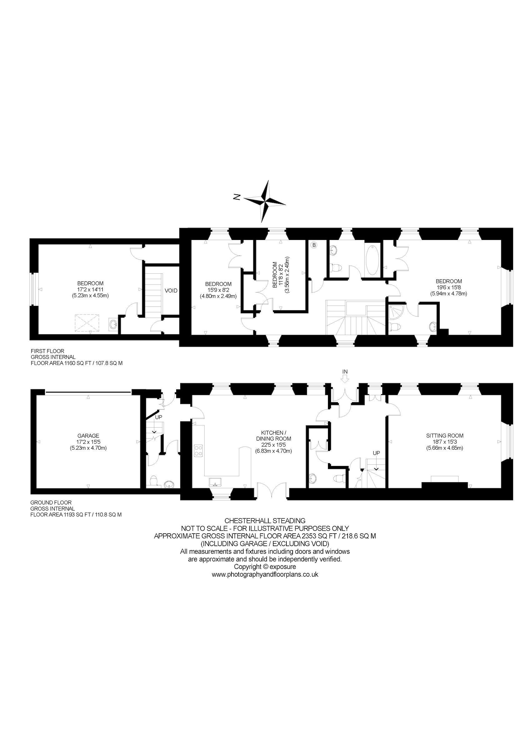 Floorplans for Chesterhall Steading, Longniddry, East Lothian, EH32