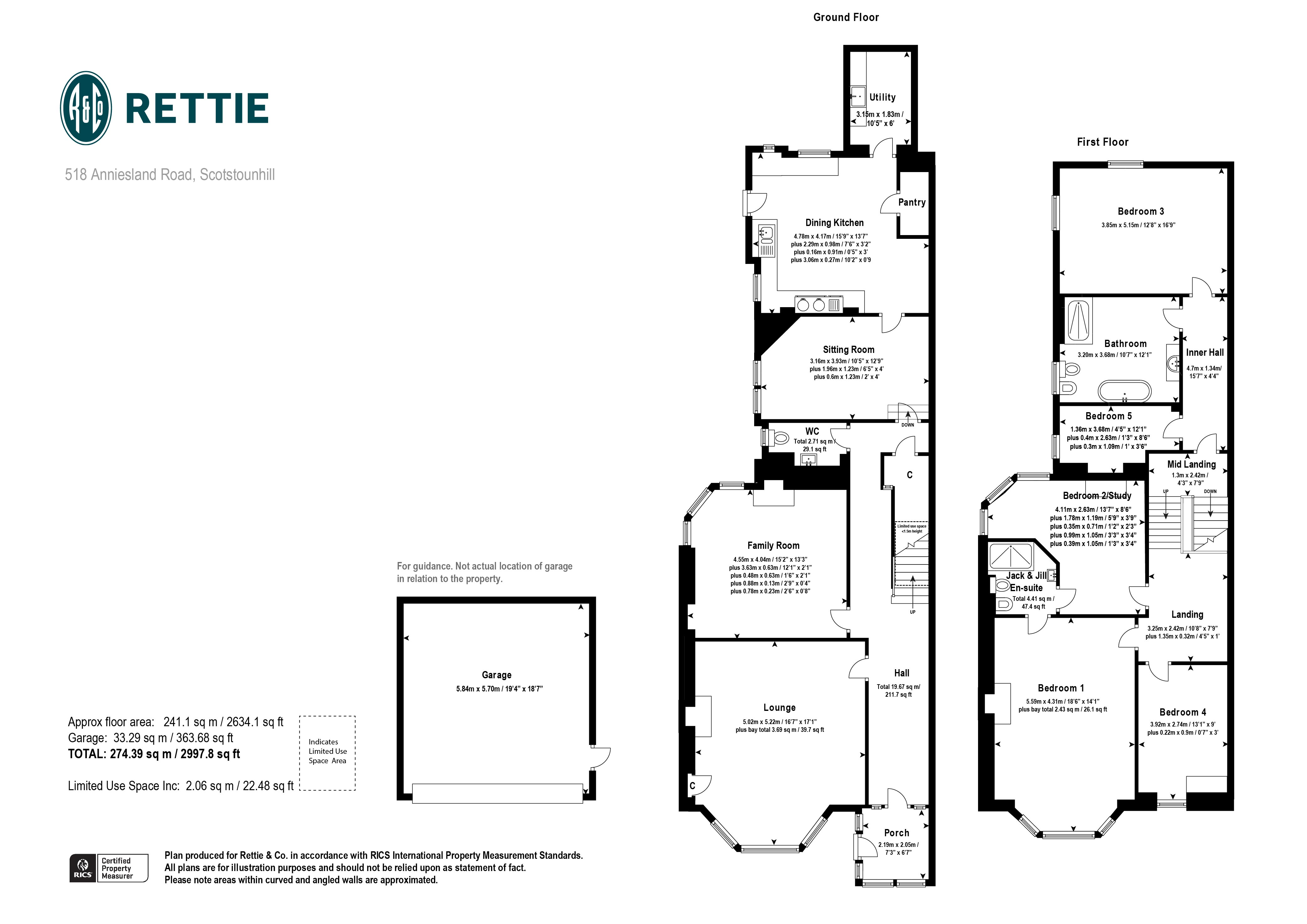 Floorplans for Anniesland Road, Scotstounhill, Glasgow, G13