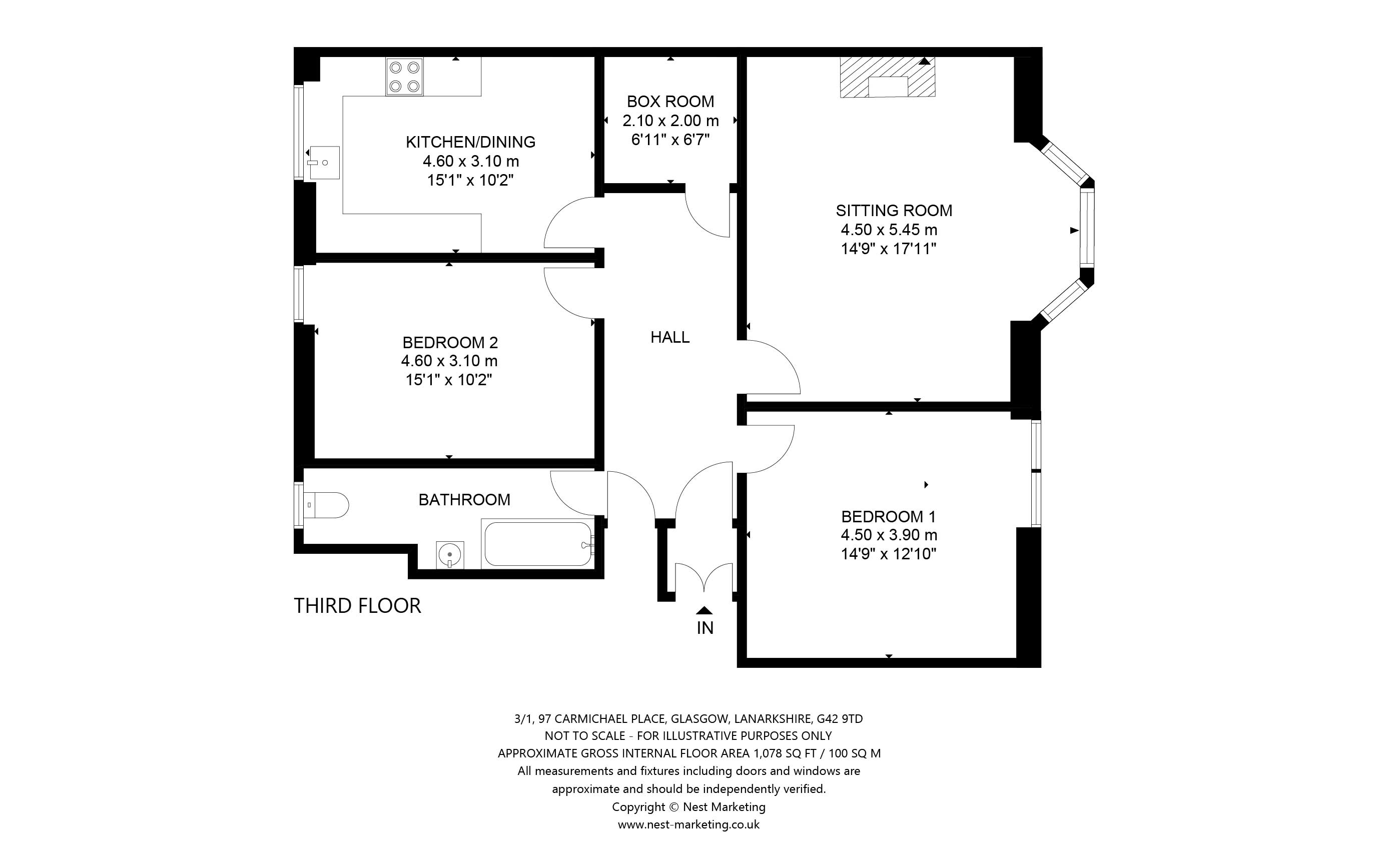 Floorplans for Carmichael Place, Battlefield, Glasgow, G42